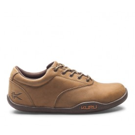 Gravel Lo Office Casual Shoe Amber Brown Leather