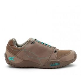 Kruzr II Women's Comfort Shoes for Plantar Fasciitis Dark Mahogany - Calypso Blue www.kurufootwear.com