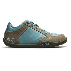 Pika Leather/Mesh - Aqua & Tan