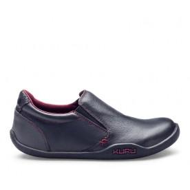 KIVI Women's Casual SlipOn Shoe Black Leather