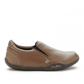 KIVI Women's Casual SlipOn Shoe Brown Leather www.kurufootwear.com